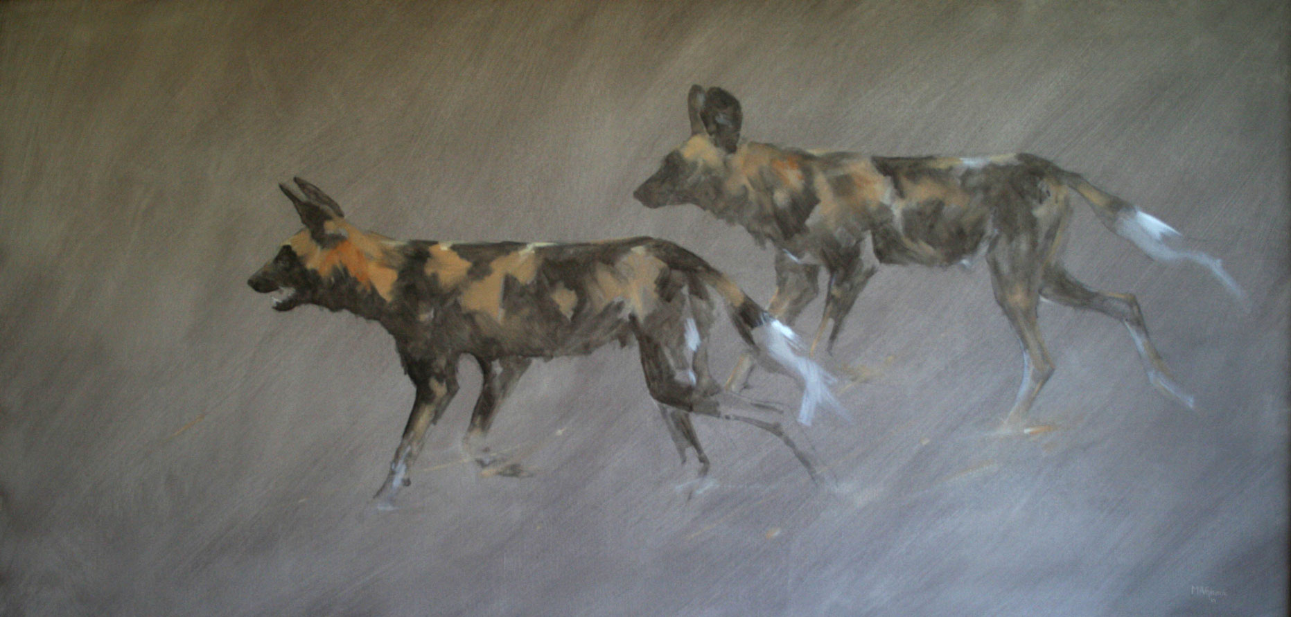Wild-Dogs---Oil-Sketch-on-linen-canvas-by-Mike-Ghaui--March-11-'10-brtr-img