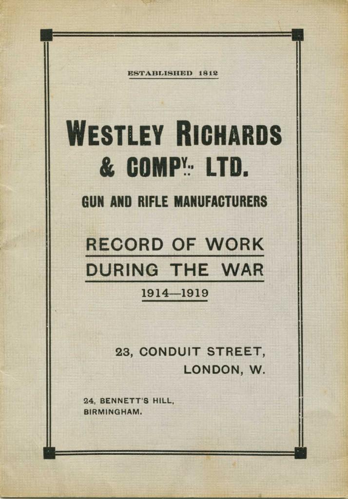 Westley-Richards-Record-of-War-work
