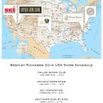 WESTLEY RICHARDS 2014 USA SHOW SCHEDULE.