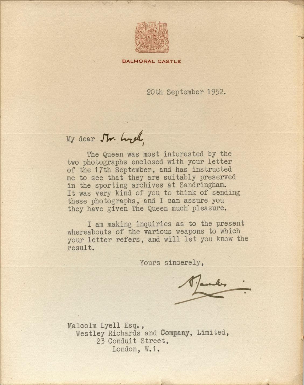 Balmoral-Letter