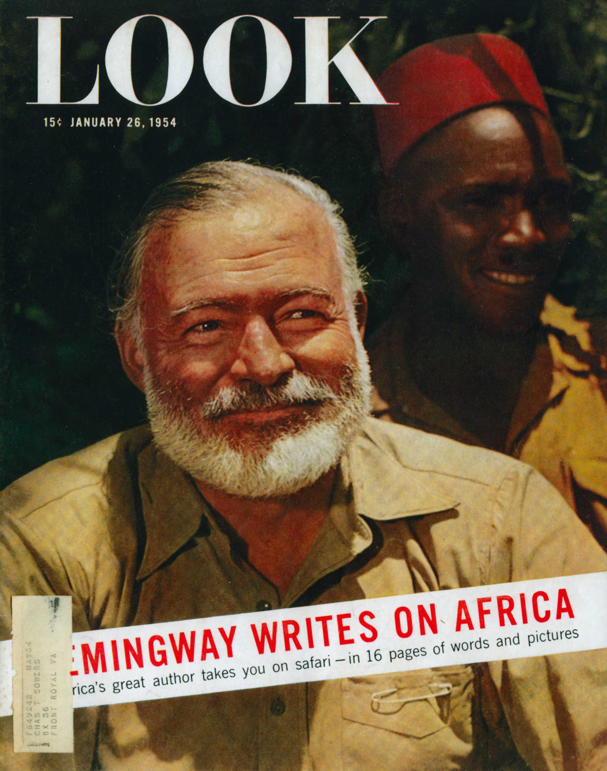 HEMINGWAY WRITES ON AFRICA. LOOK MAGAZINE 1954. / Westley Richards
