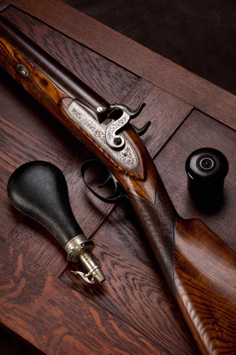 A 4g Westley Richards Muzzle Loading Fowling Gun.