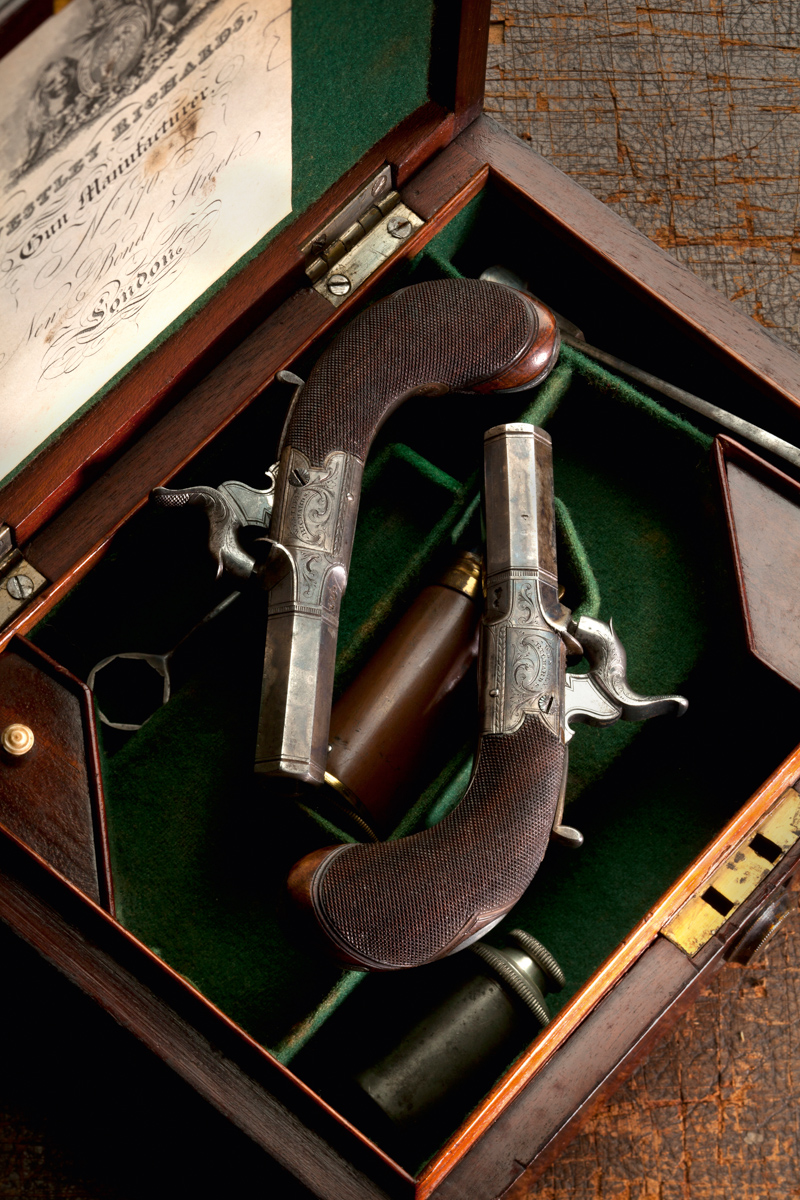A Fine Cased Pair of Westley Richards 550 bore Percussion Pistols
