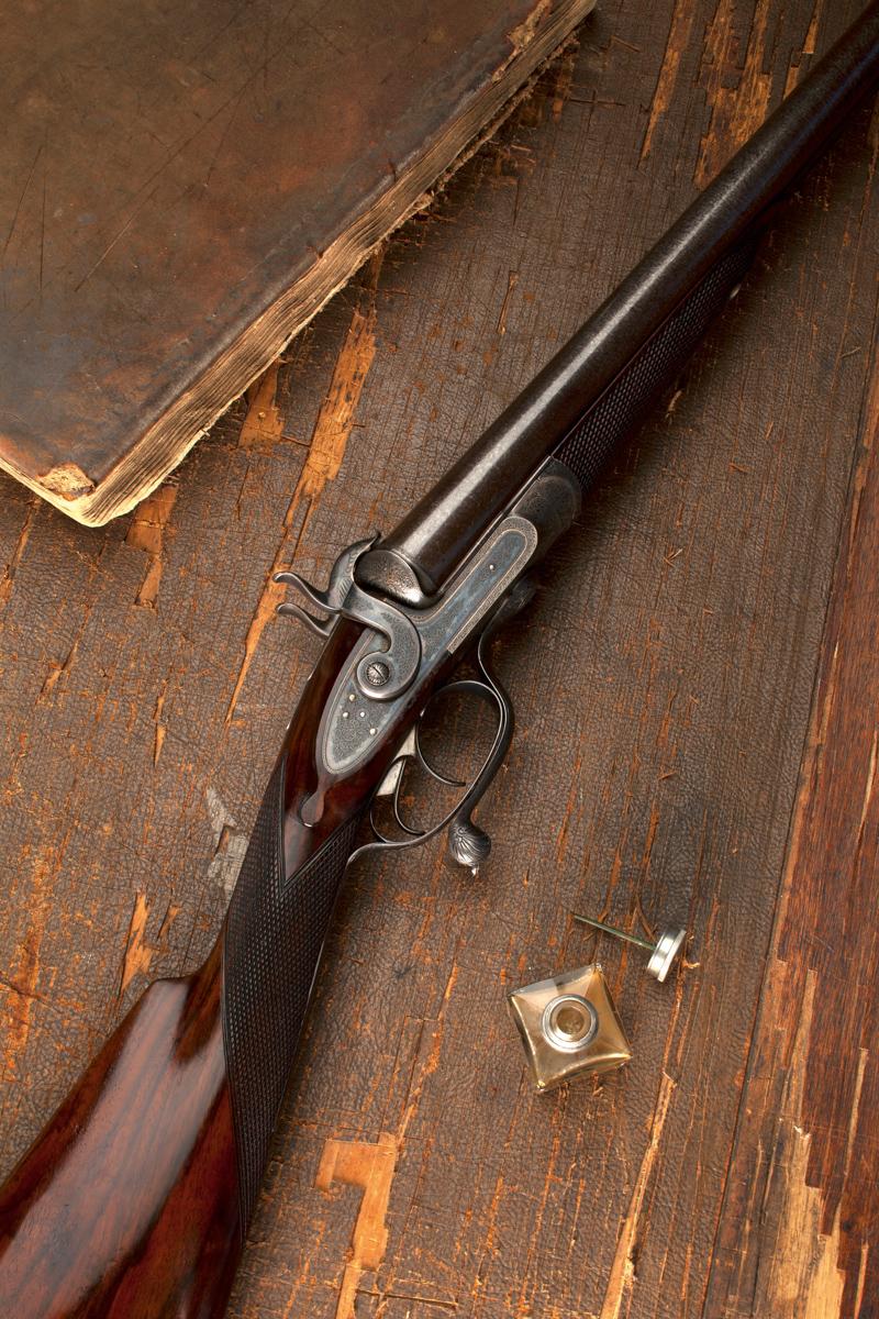 A Best Quality Westley Richards 10g Pinfire Shotgun.