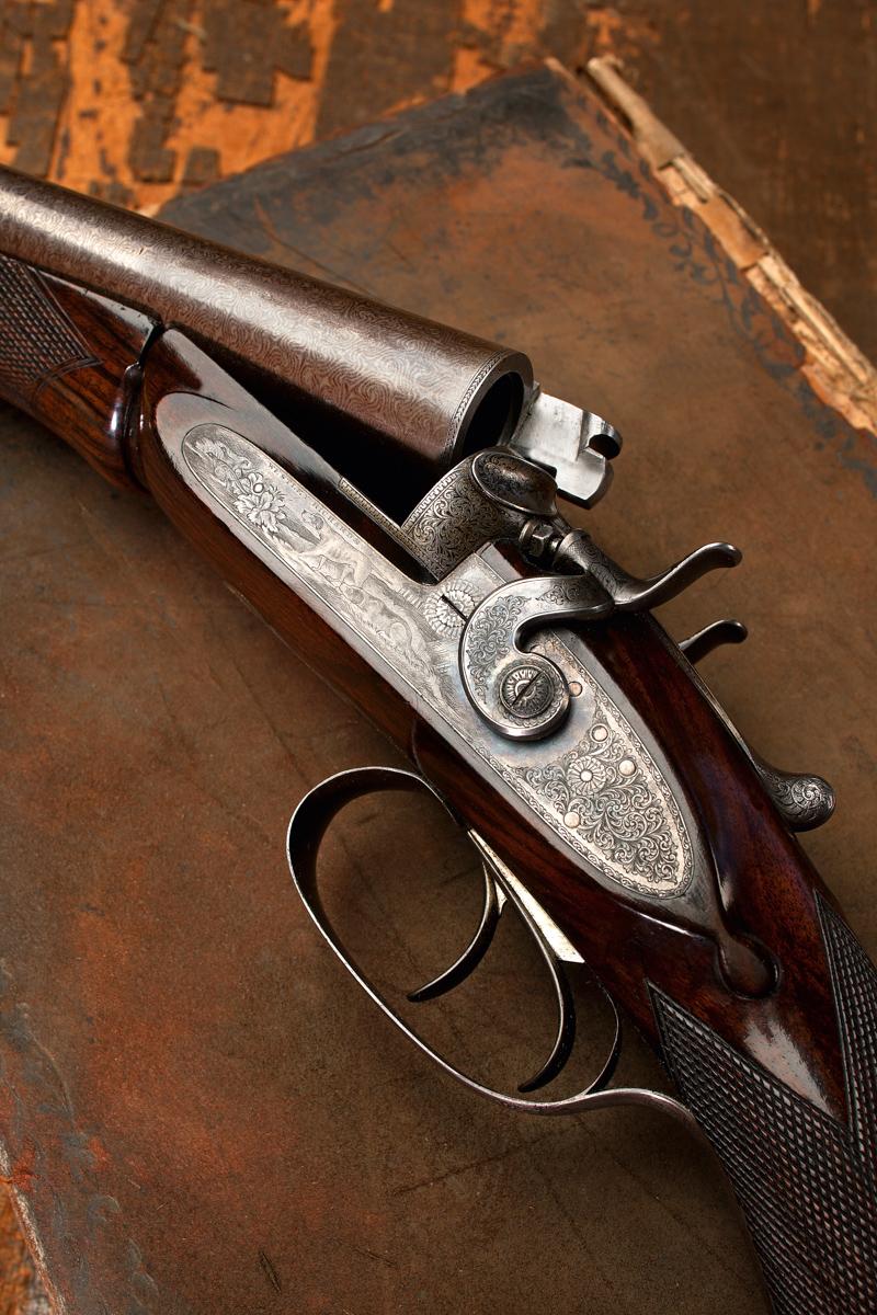 A Game Engraved Westley Richards CentreFire 12g Shotgun Made 1885
