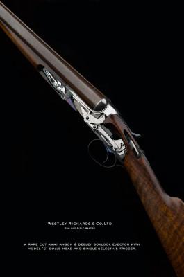 AN ANSON & DEELEY 12g CUT AWAY GUN.