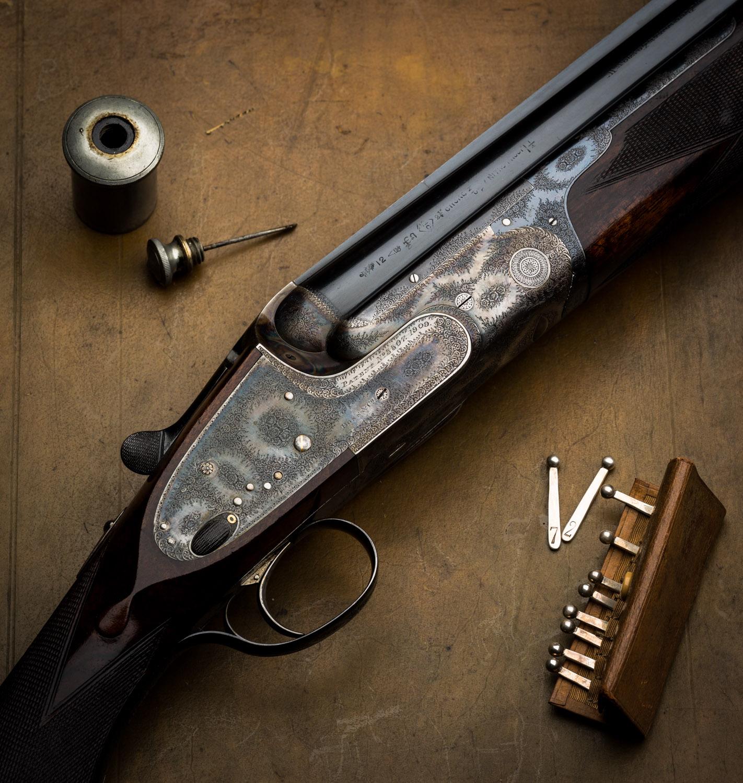 Boss & Co, Over and Under, Shotgun, 12g, vintage gun