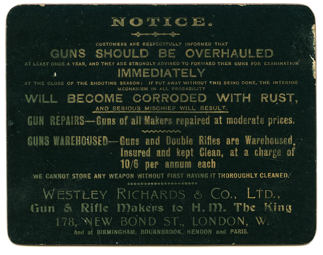 Gun Repair, Westley Richards,