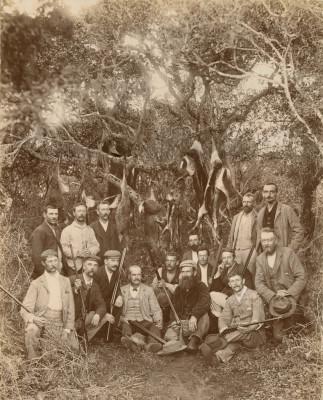 Antique Hunting Photographs. A Springbok Hunt.