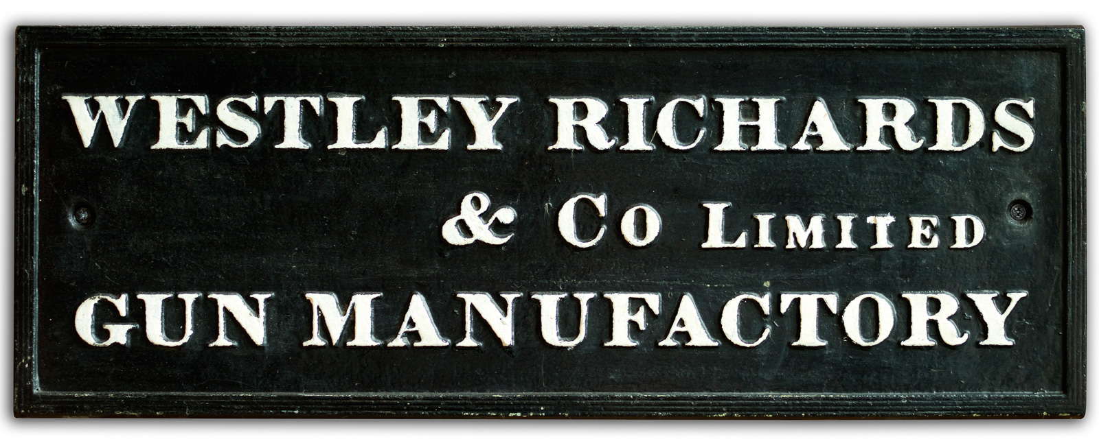 Westley Richards & Co Factory sign