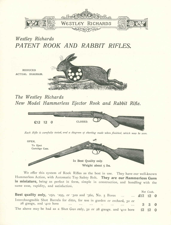 Westley Richards, single shot, rifles, vintage