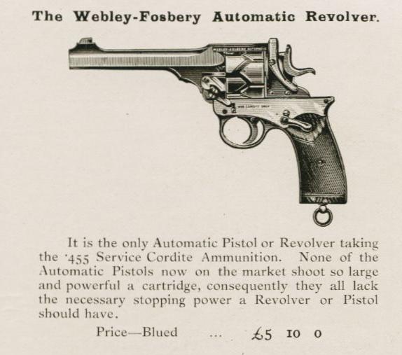 webley-fosbery, revolver