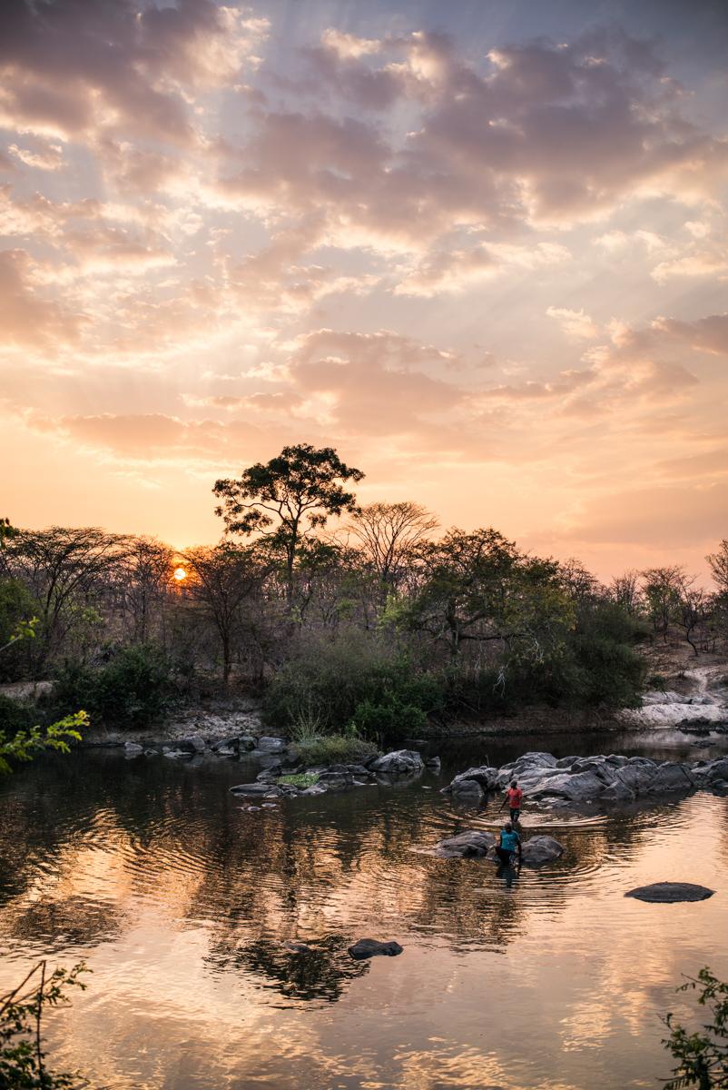 Westley Richards, Rungwa River, sunset,