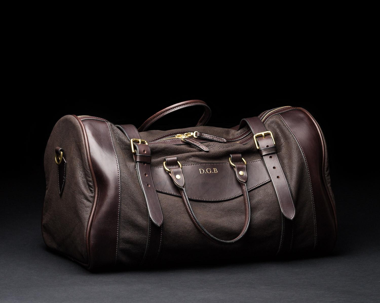 Buffalo Leather Safari Bag, westley Richards, sutherland bag, safari bag
