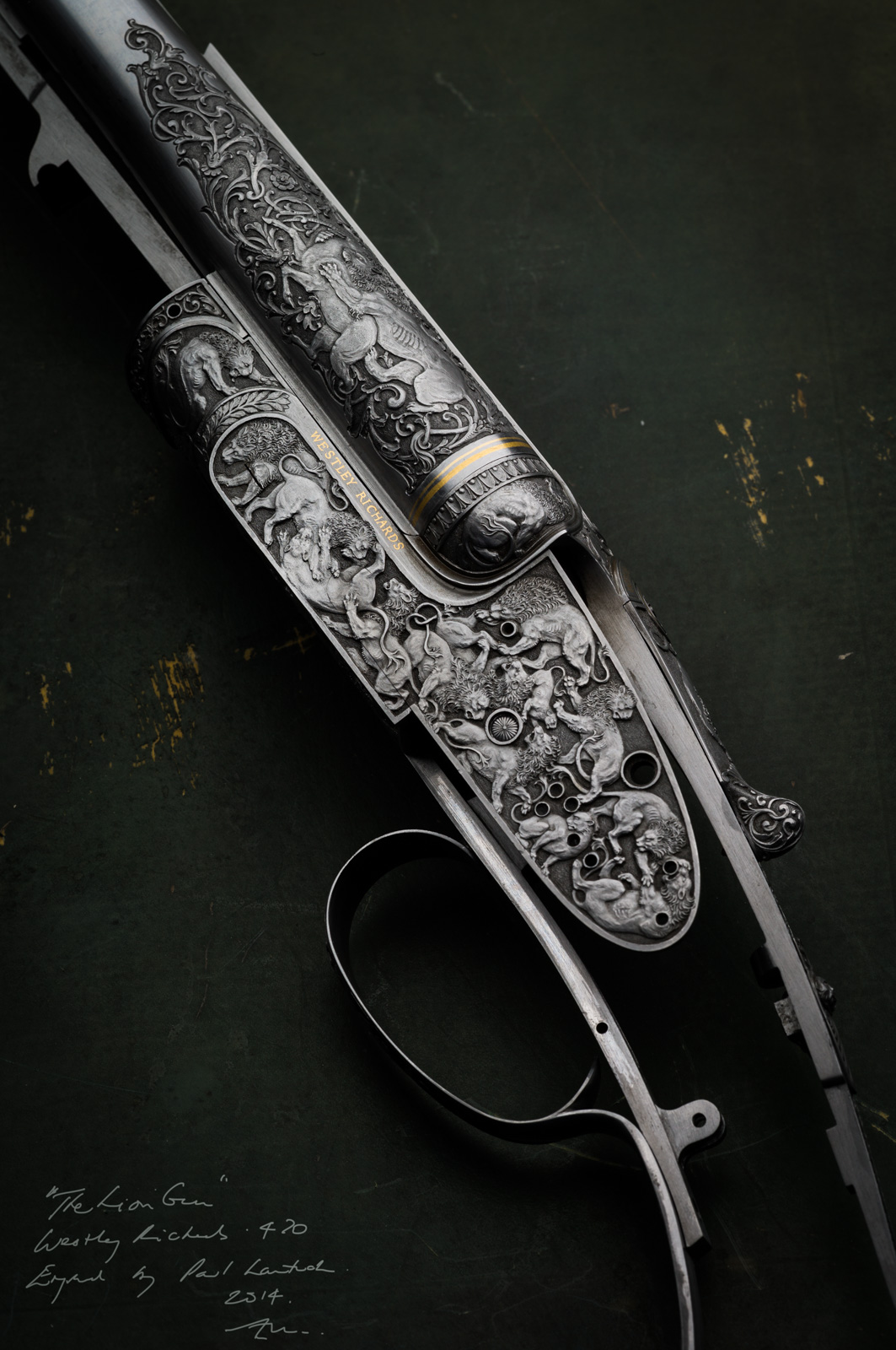 Deluxe engraving, 470 Sidelock, double rifle , westley richards