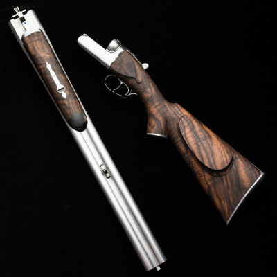 A Westley Richards .600 NE Droplock just after Stocking.
