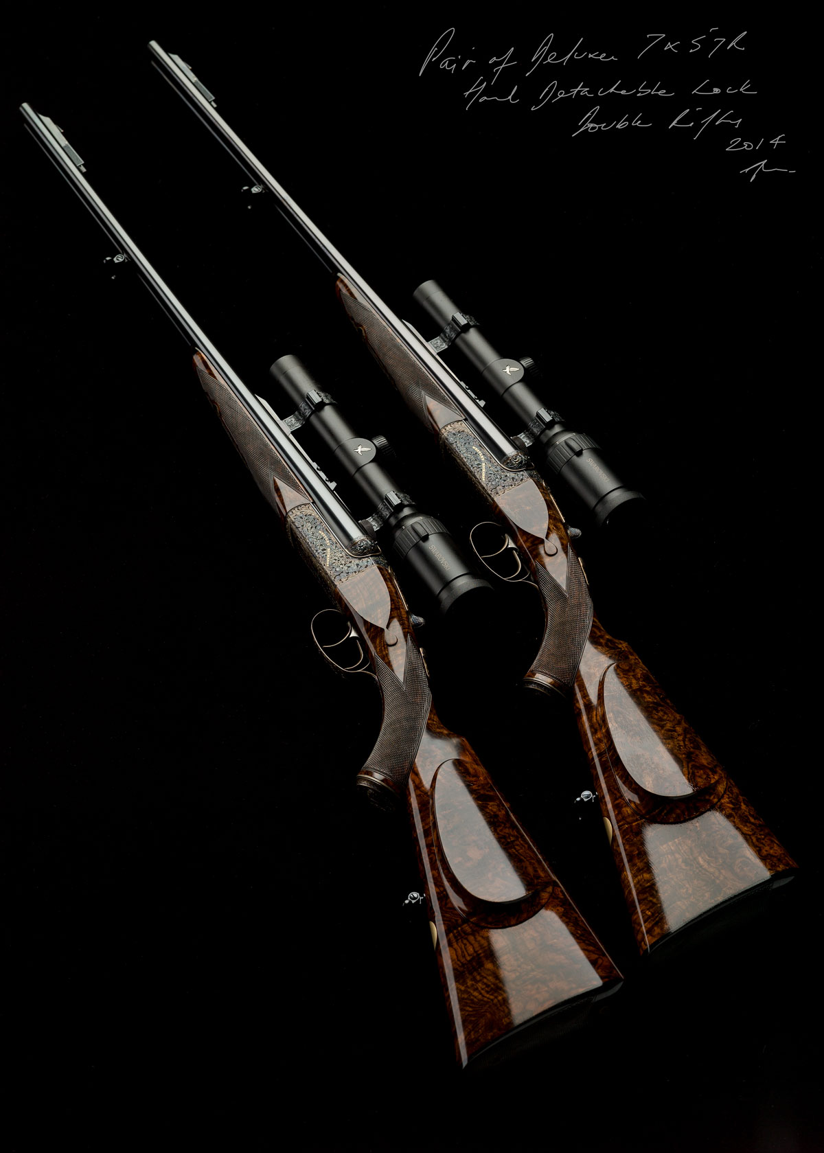 Westley Richards, Droplock Rifle, Pair double rifles