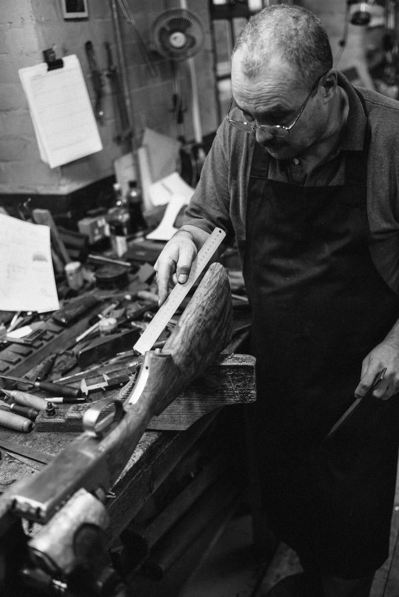 Westley Richards, Making Off a stock, stocker, shotguns