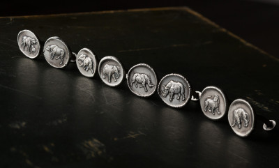 Cufflinks for Christmas!  Our Silver African Game Cufflinks by Paul Lantuch.