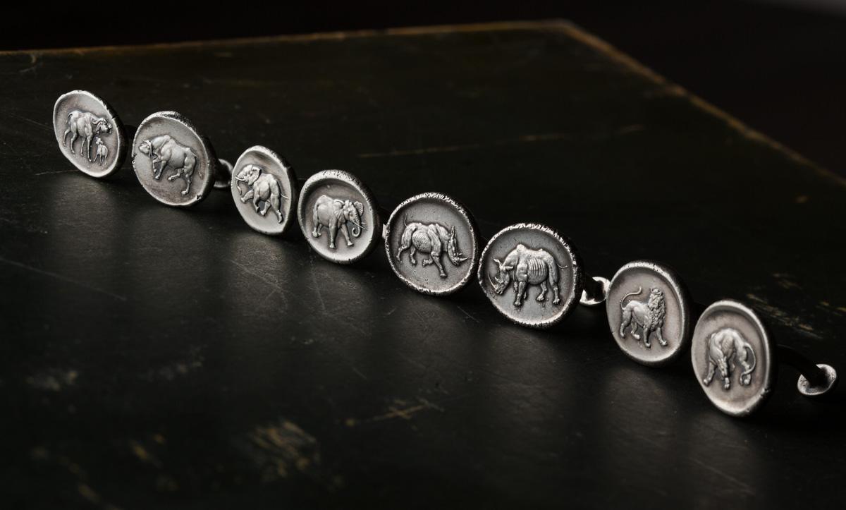 Westley Richards, Cufflinks, silver,