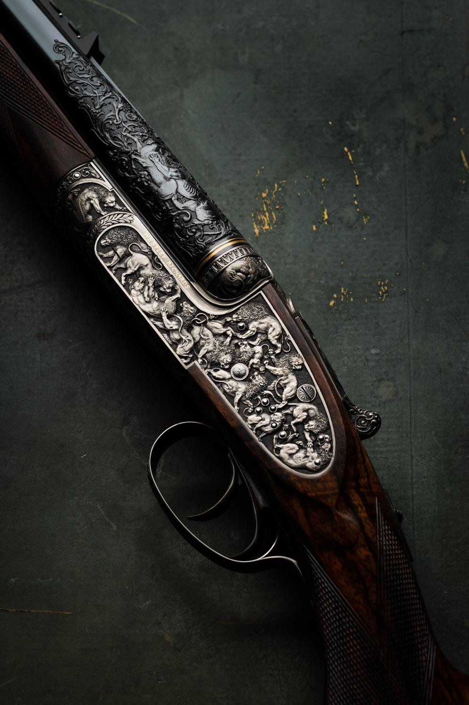 Westley Richards, Lion Rifle, Lantuch, 470 Sidelock