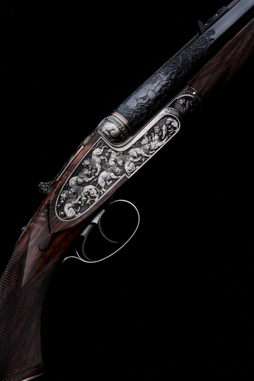 Westley Richards, Lion Rifle, 470 Sidelock