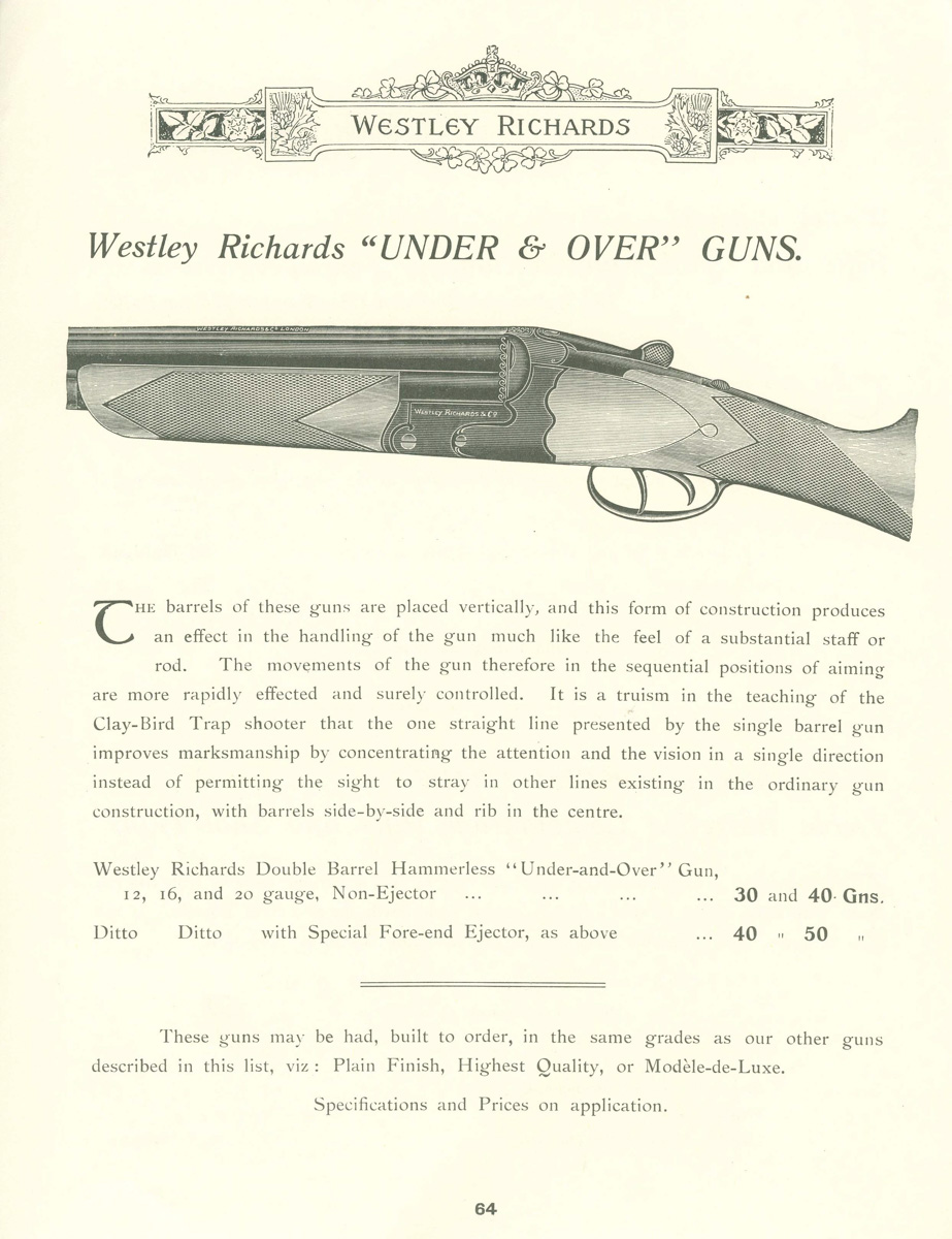The Ovundo page from Westley Richards 1912