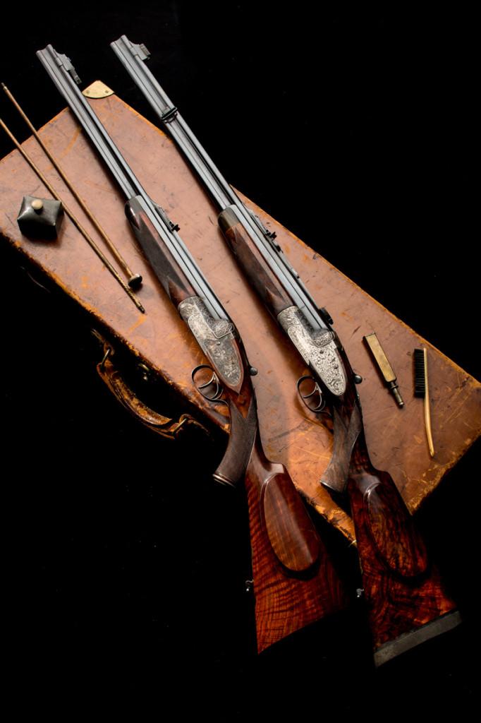 Westley Richards Ovundo Double Rifles.
