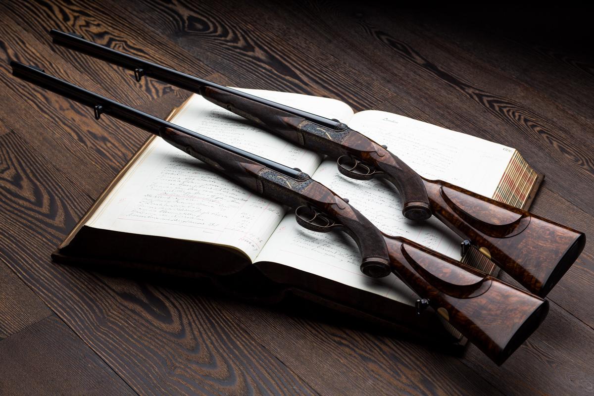 Pair Express rifles, 7x57r, westley richards,