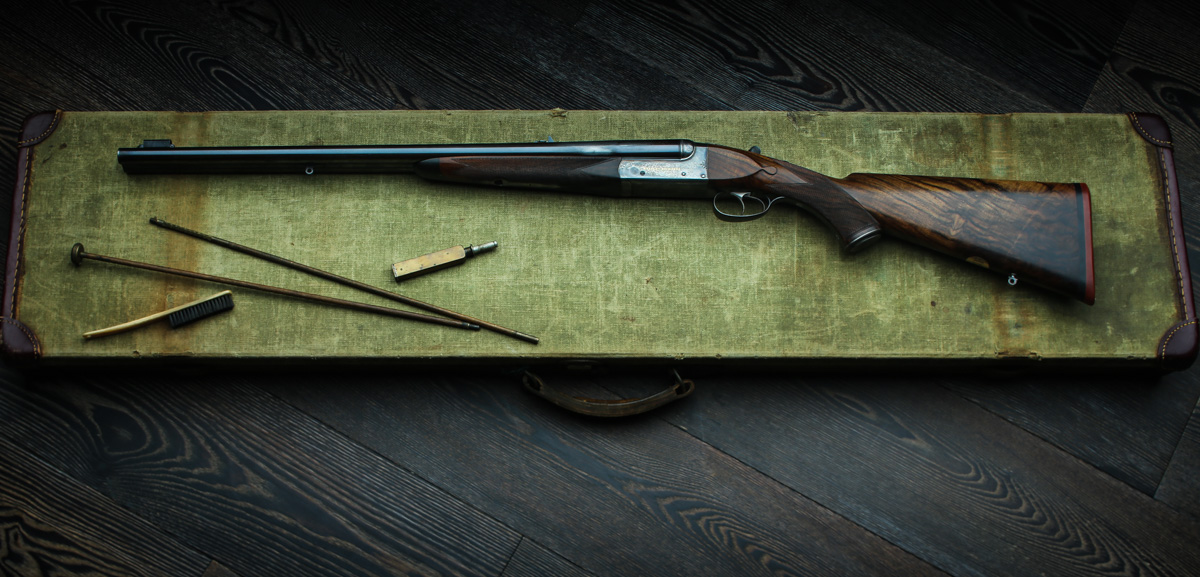 A Westley Richards Gold Name Anson & Deeley .500 NE Double