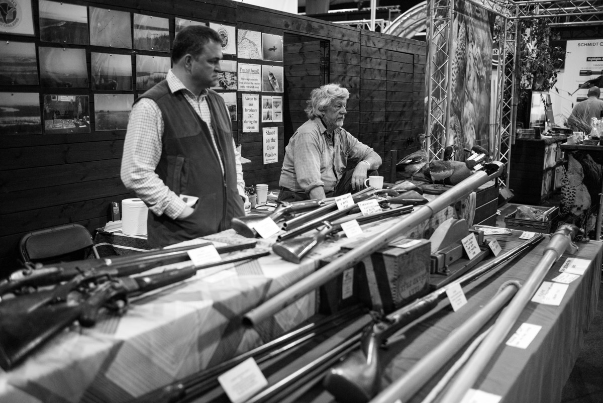 A display of put gunning and wildfowl guns