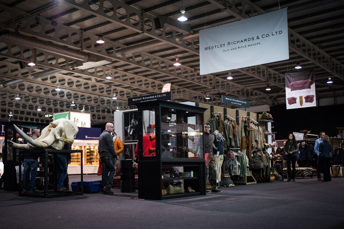 Westley Richards stand at Great British Shooting Show