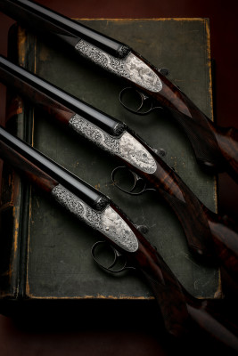 A Set of Three Westley Richards Round Action Sidelock 20g Guns.