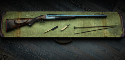 The Westley Richards Gold Name Anson & Deeley Double Rifle.