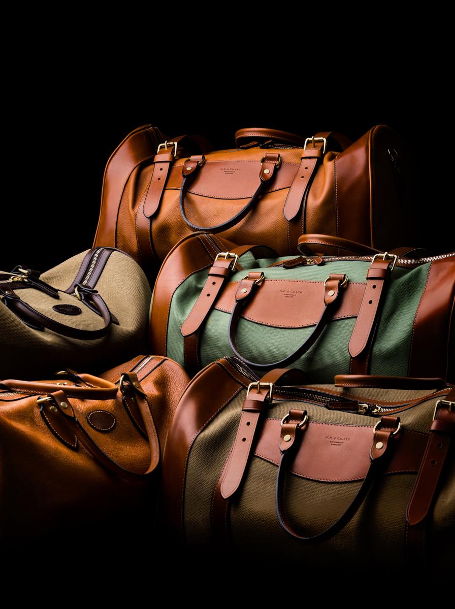 The Westley Richards range of Safari and Overnight bags.