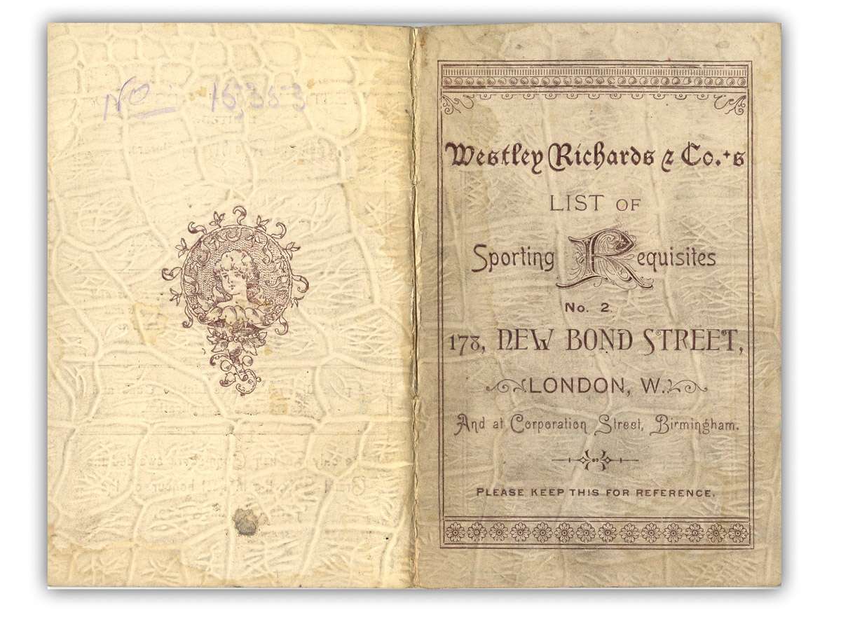 Westley Richards small catalogue of sporting requisites.