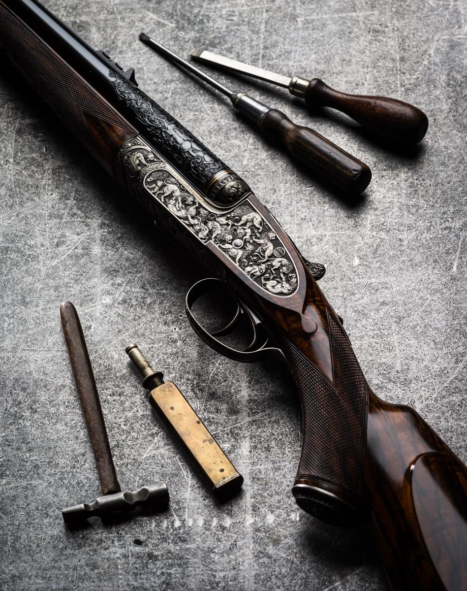 Westley Richards Lion Rifle.