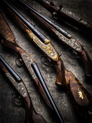 Westley Richards Guns and Rifles engraved by Paul Lantuch.