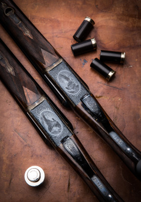 A Pair of Westley Richards 12g SST Droplock Game Guns.