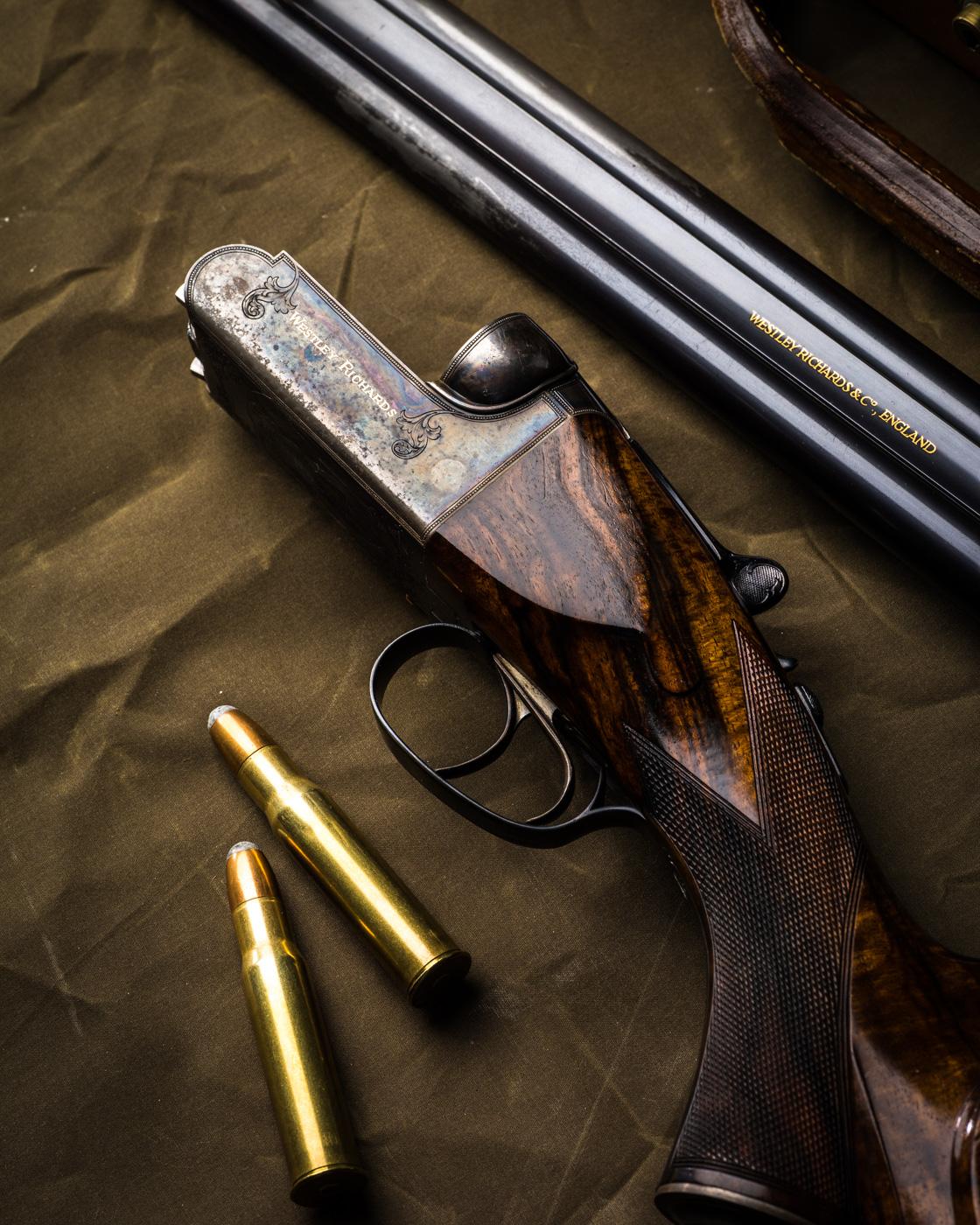 Westley Richards 577-500 droplock double rifle.