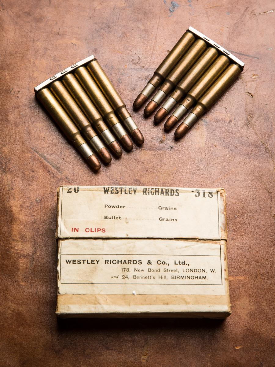 Westley Richards, .318 ammunition, clips