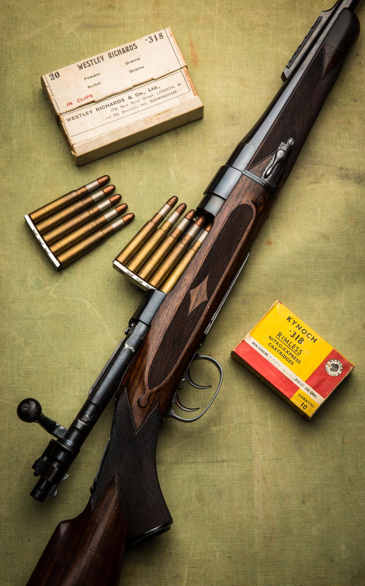 Westley Richards, Bolt action, 318, clip ammunition