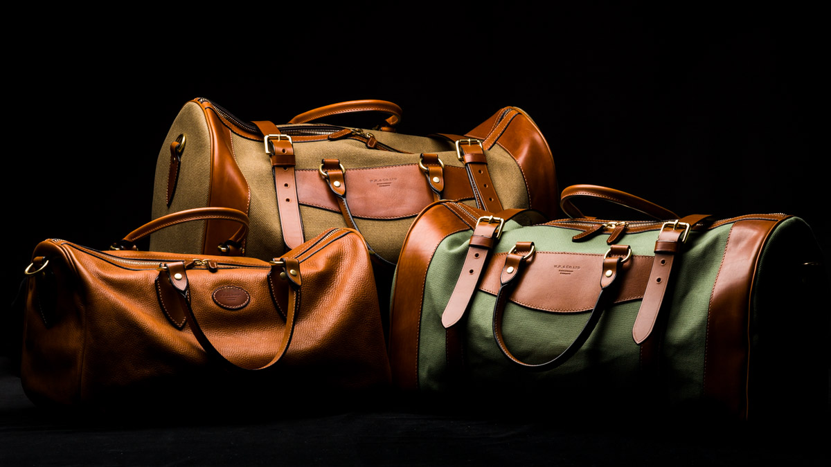Westley Richards Sutherland overnight bags.