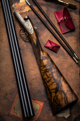 A Westley Richards 12g Round Action Sidelock.