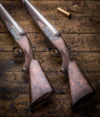 The First Pair of Westley Richards 4 Bore, Hand Detachable Lock Guns Near Completion.