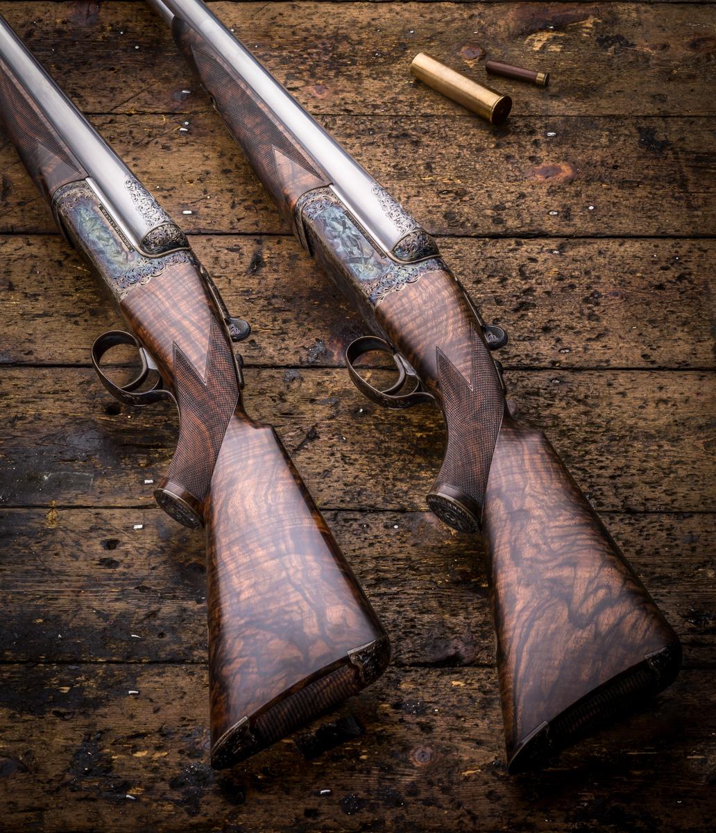 Pair of Westley Richards Droplock 4 bore shotguns
