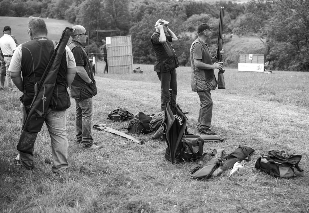 Shooters at the Windrush Shooting Ground Clay Classic.