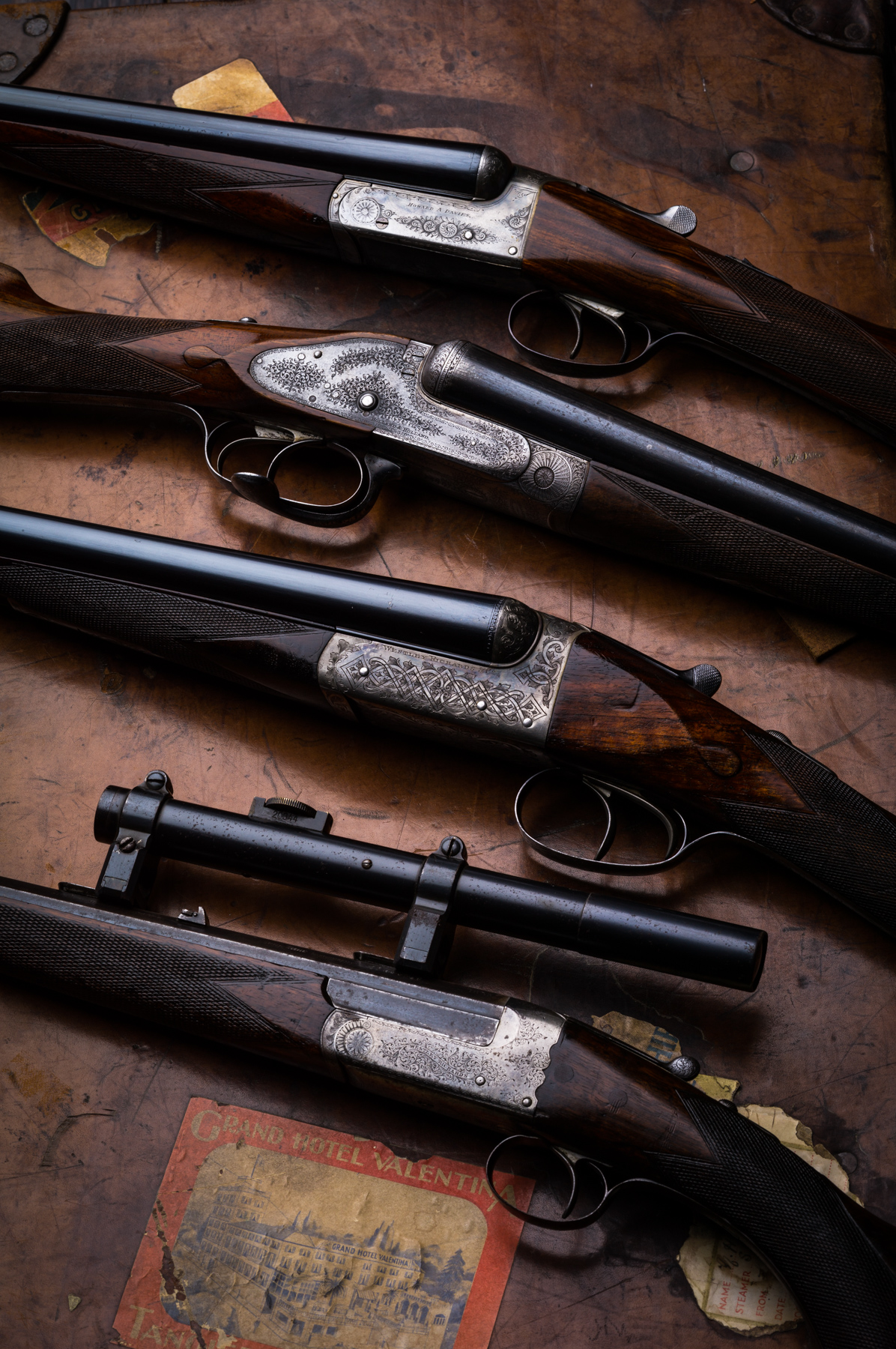 Some used shotguns at Westley Richards and a 22 hornet.