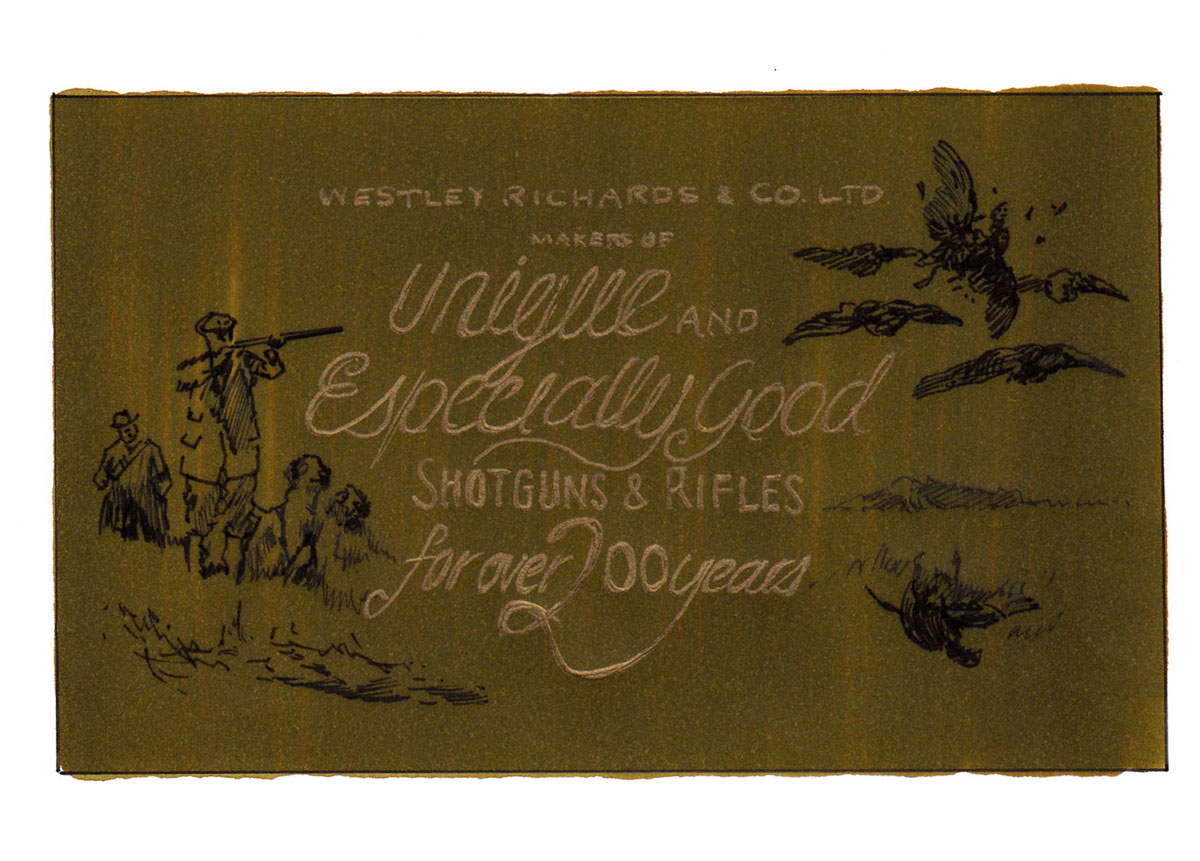 Proposed gun cover Westley Richards