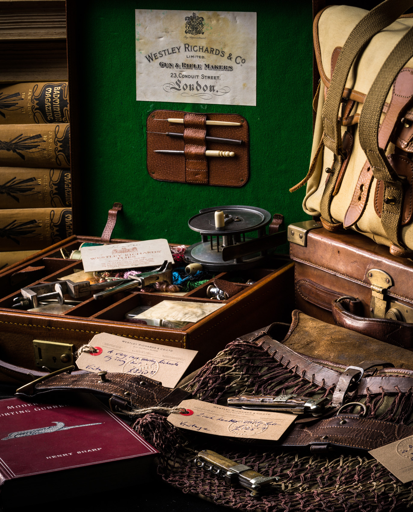 Ephemera and Vintage Sporting kit at Westley Richards.